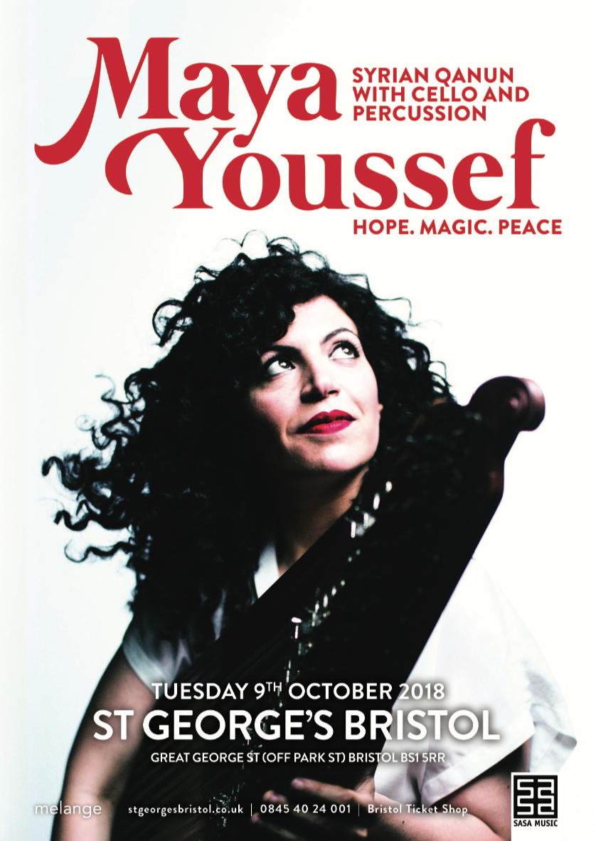 Maya Youssef will perform live in Bristol on Tuesday 9th October.