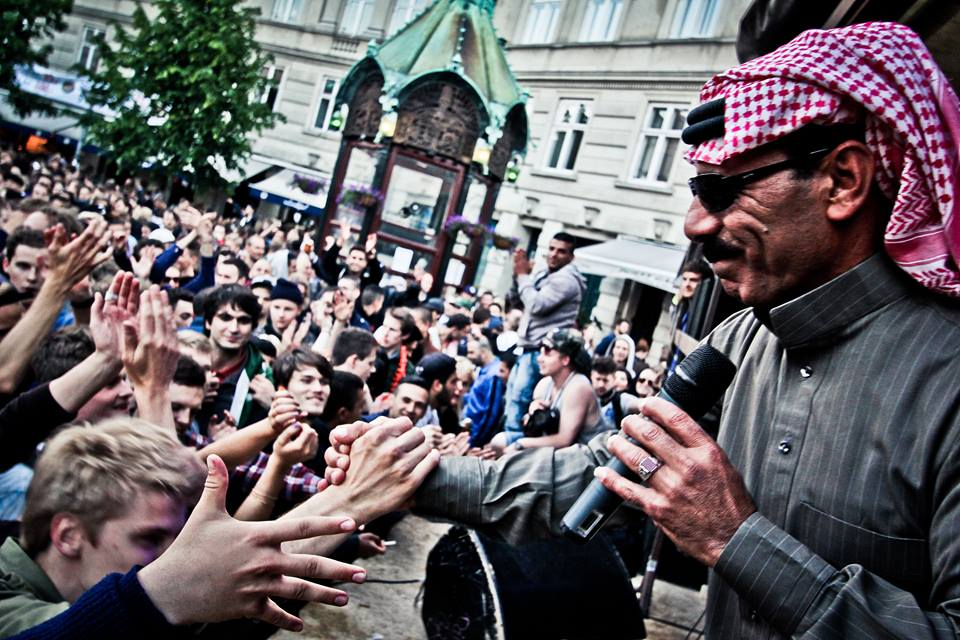 Omar Souleyman on stage in 2015.