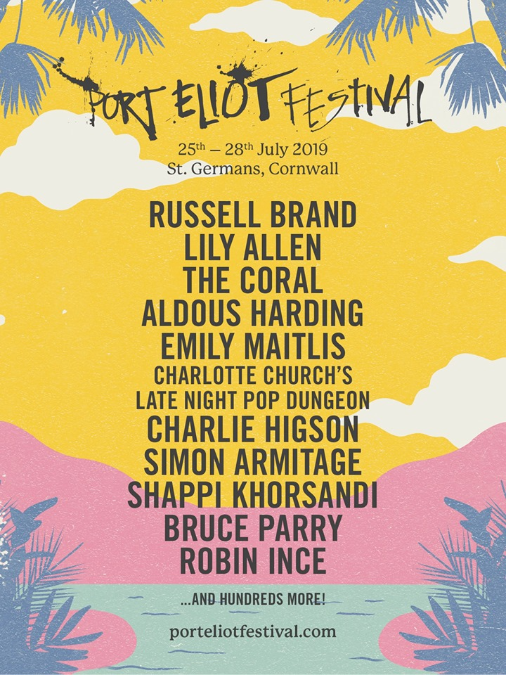 Port Eliot Festival's 2019 headliners.