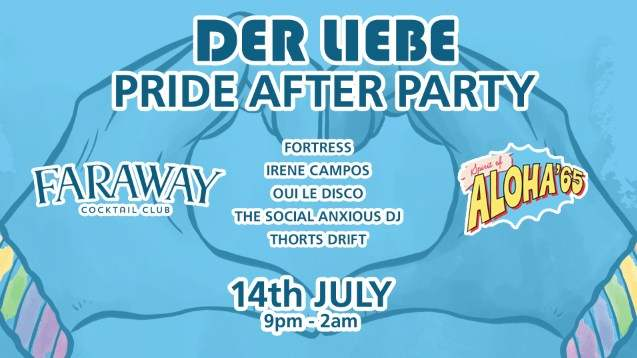 Faraway Cocktail Club are set to host the biggest afterparty of Bristol Pride 2018!