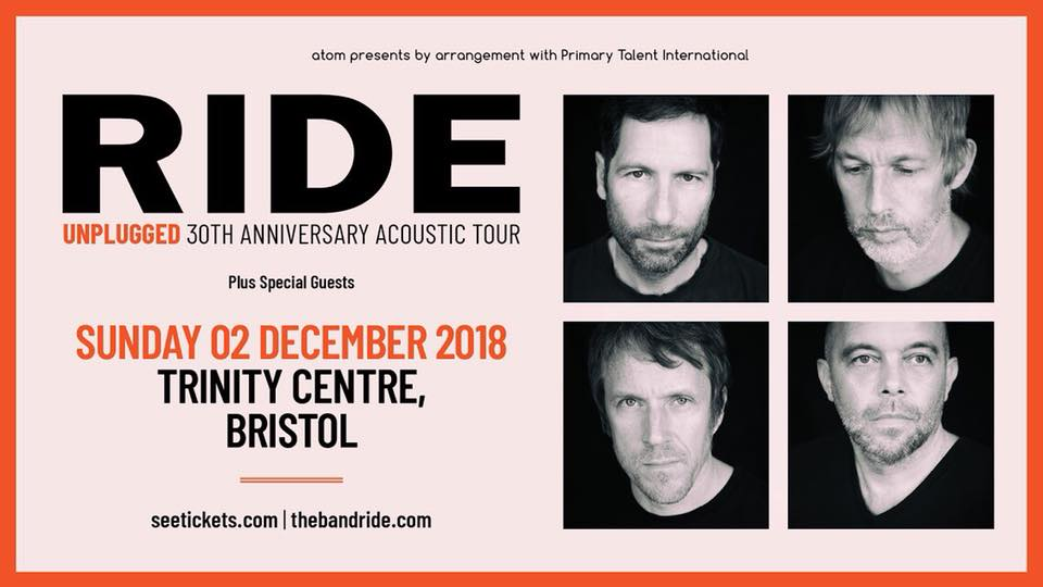 Ride will play live at Trinity Centre on Sunday 2nd December.