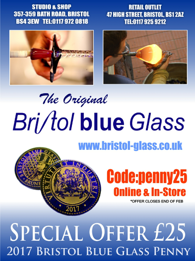 Beautiful Bristol Blue Glass 2017 Penny - Discount Code