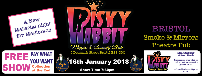 The new Risky Rabbit Magic and Comedy events will showcase brand-new material on the second Tuesday of every month.