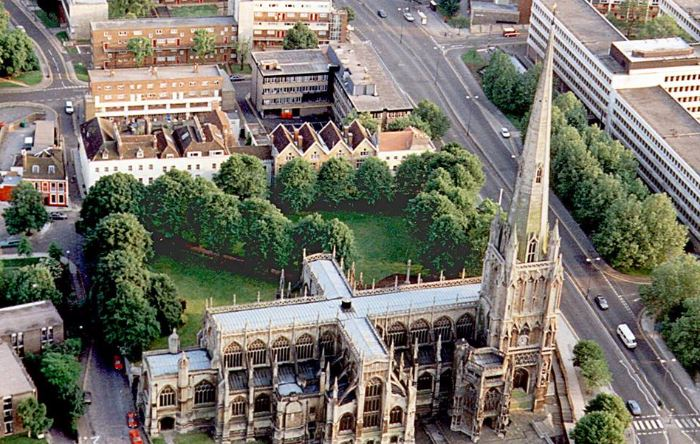 St Mary Redcliffe Church in Bristol.
