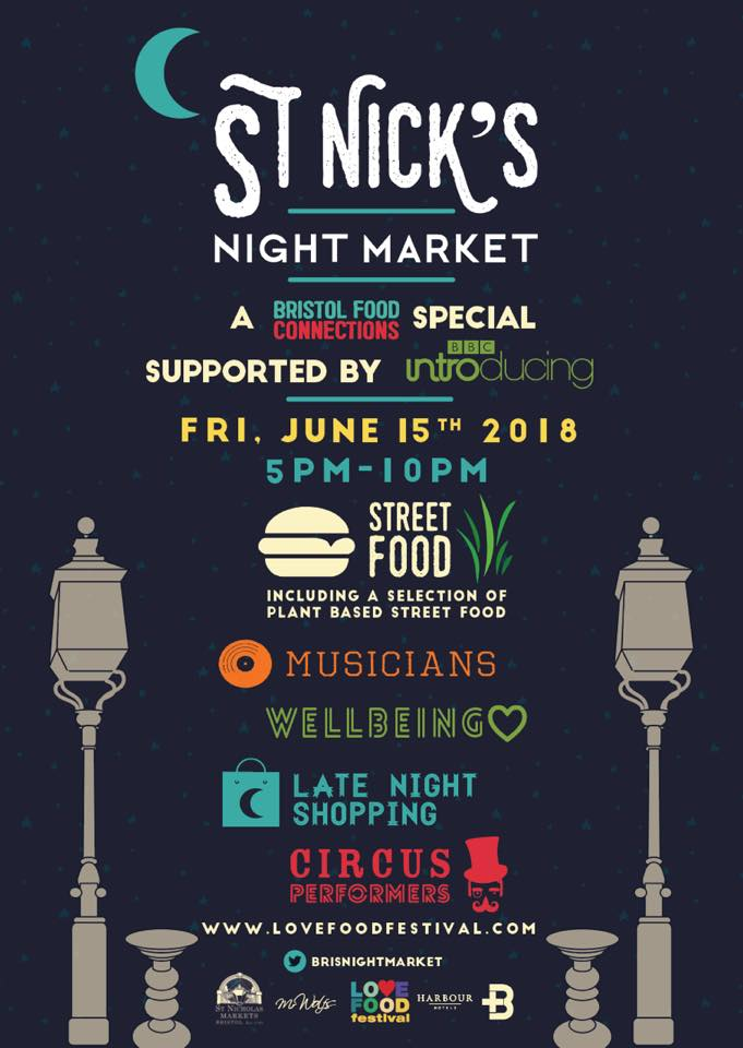 St Nick's Night Market on Friday 15th June 2018