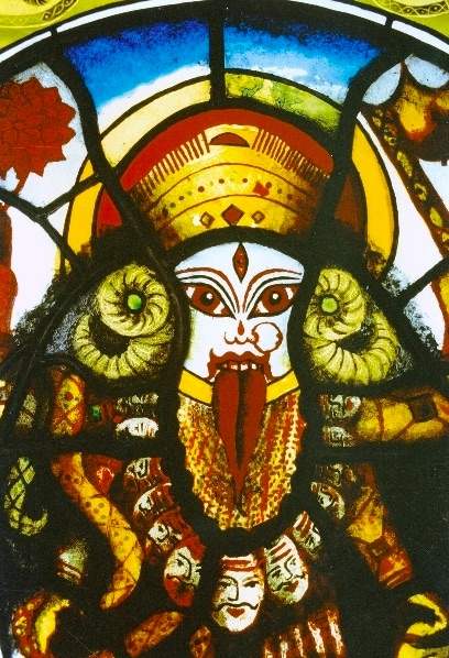 Kali in the Crypt: stain glass exhibition in Bristol