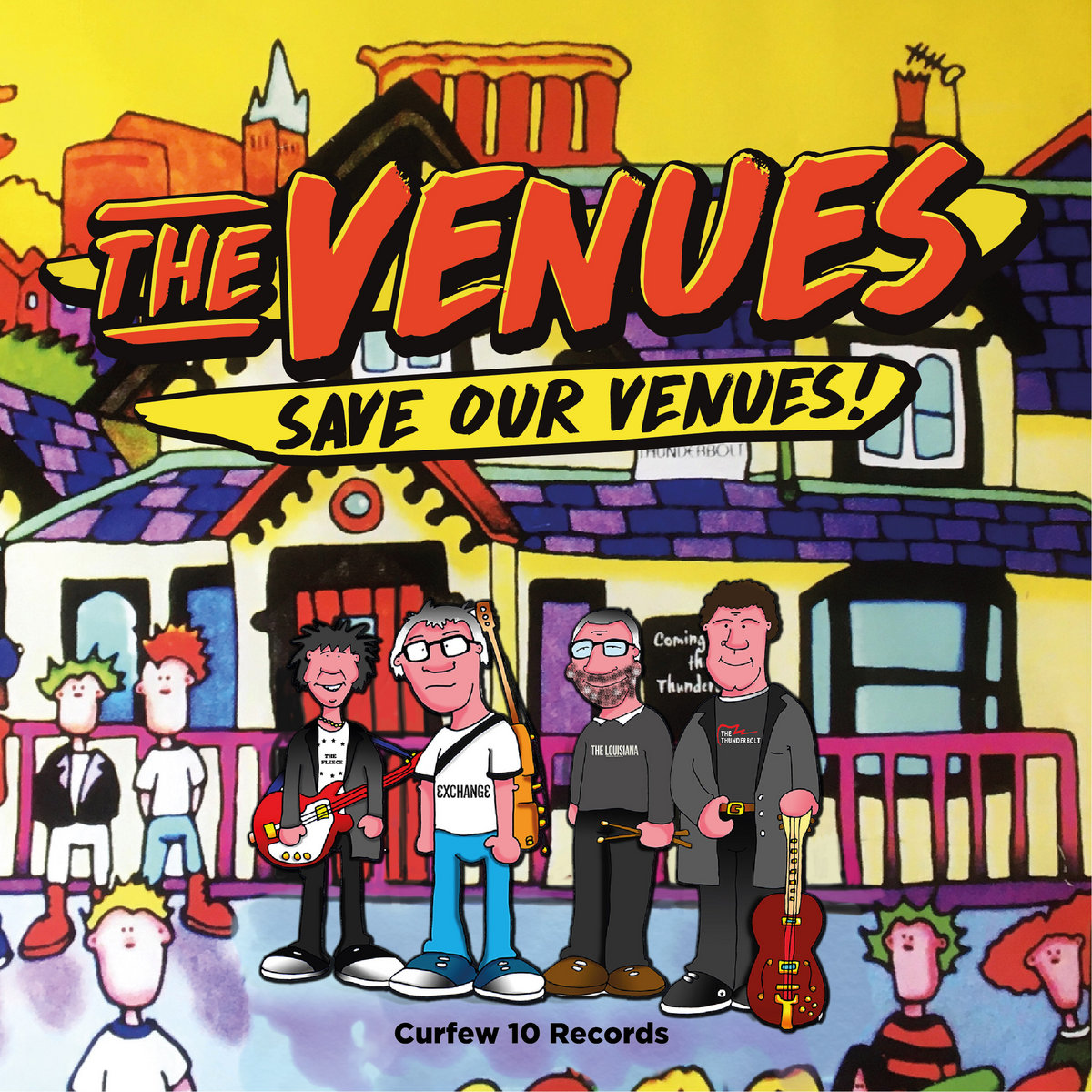 Artwork for The Venues' 'Save Our Venues', out now.