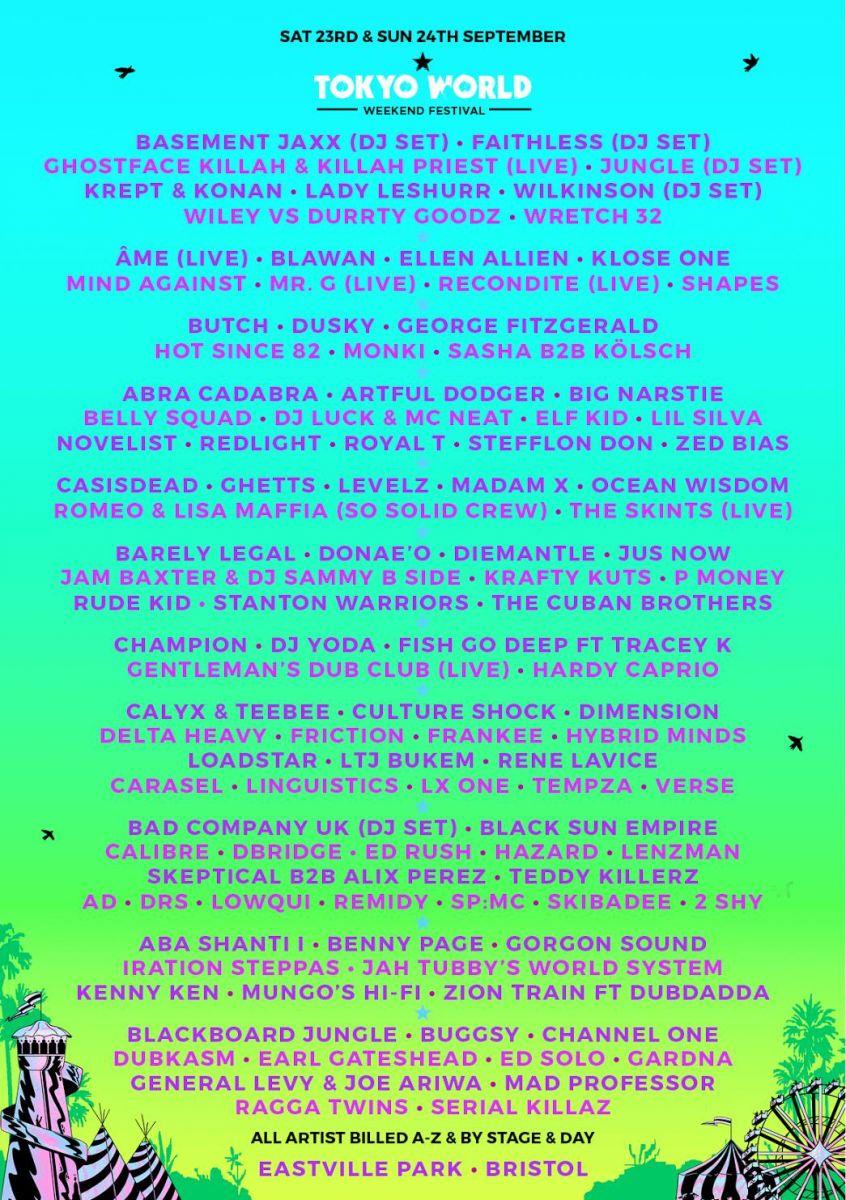 Tokyo World Unveils Massive Lineup For Twoday Bristol Festival - Basement jaxx good luck