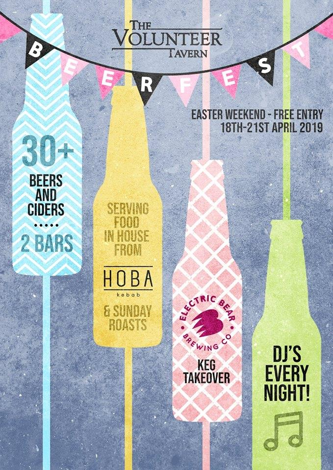 The Easter Beer Festival at The Volunteer Tavern.