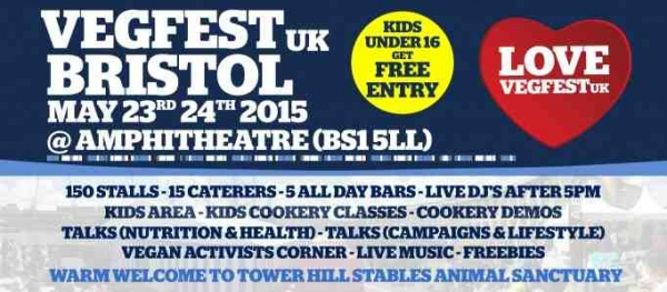 Bristol Vegfest takes place on 23-24 May 2015 at Lloyds Amphitheatre