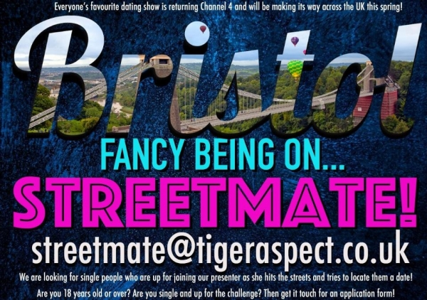 Streetmate is coming back to our screens and looking for contestants in Bristol