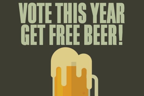 Free beer for new voters in Bristol!