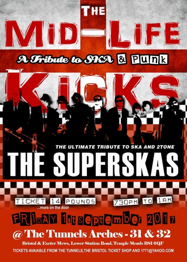 The Mid-Life Kicks & The Superskas at The Tunnels on Friday 1st September 2017