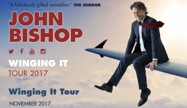 Comedian John Bishop will be Coming to Bristol Hippodrome March 2018...