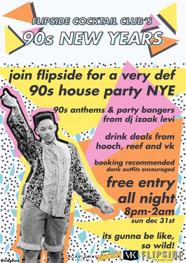 90s New Years Eve Party at Flipside Cocktail Club in Bristol
