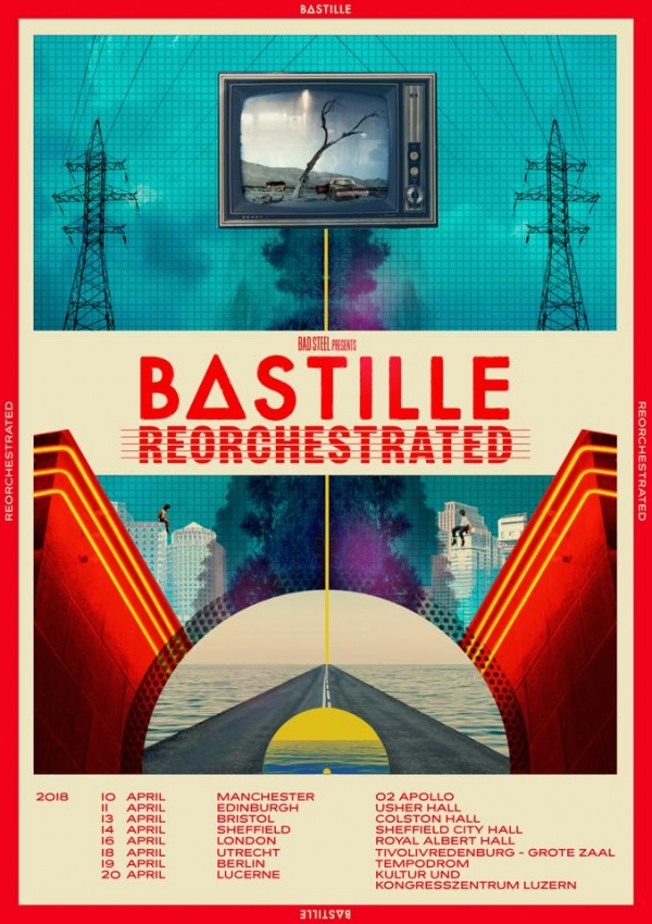 Tickets go on sale tomorrow for Bastille live at Bristol's Colston Hall on Friday 13th April 2018