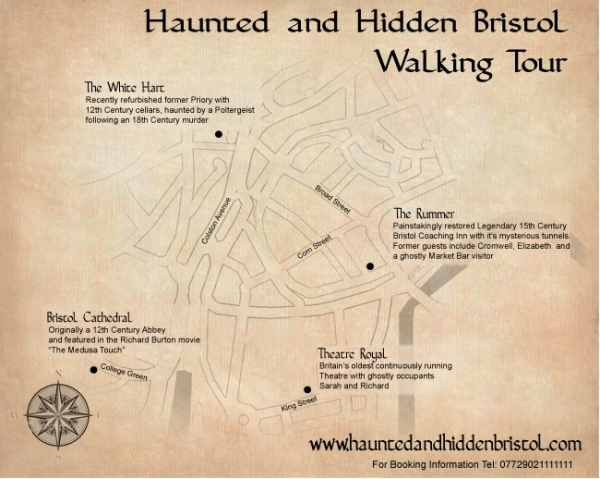Bristol's Haunted & Hidden Ghost Walk on Friday 13th April 2018