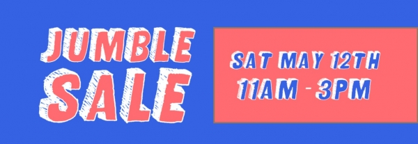 Jumble Sale at The Old Library in Bristol on Saturday 12th May 2018