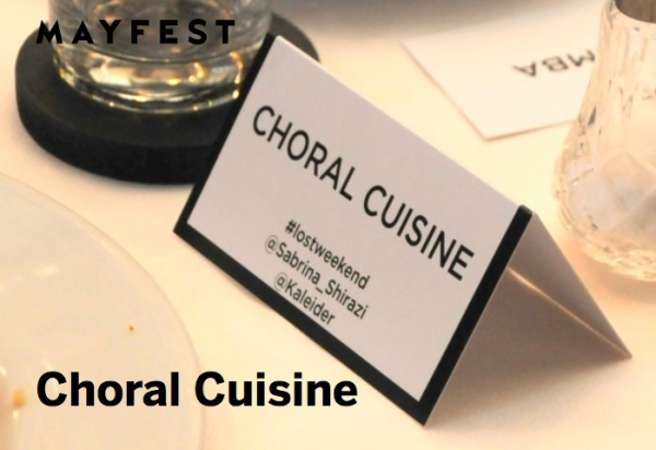 Choral Cuisine at Extract Coffee Roasters on Saturday 12th May 2018