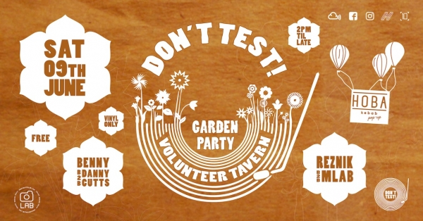 Don't Test at The Volunteer Tavern in Bristol Sat 9th June