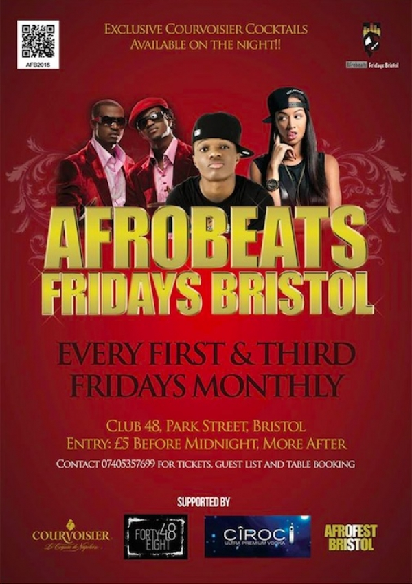 Afrobeats at Club 48 in Bristol this Friday 1st June