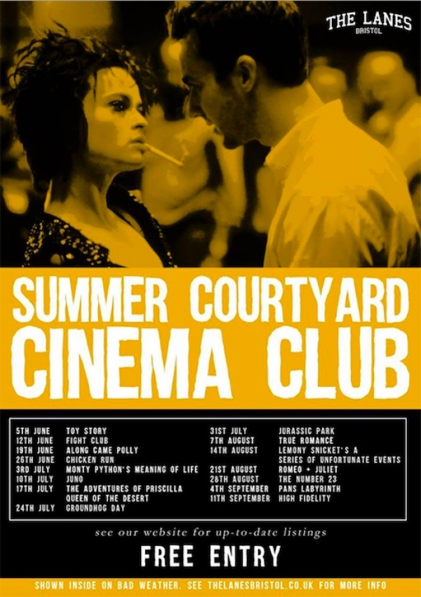 Courtyard Cinema Club every Tuesday at The Lanes in Bristol