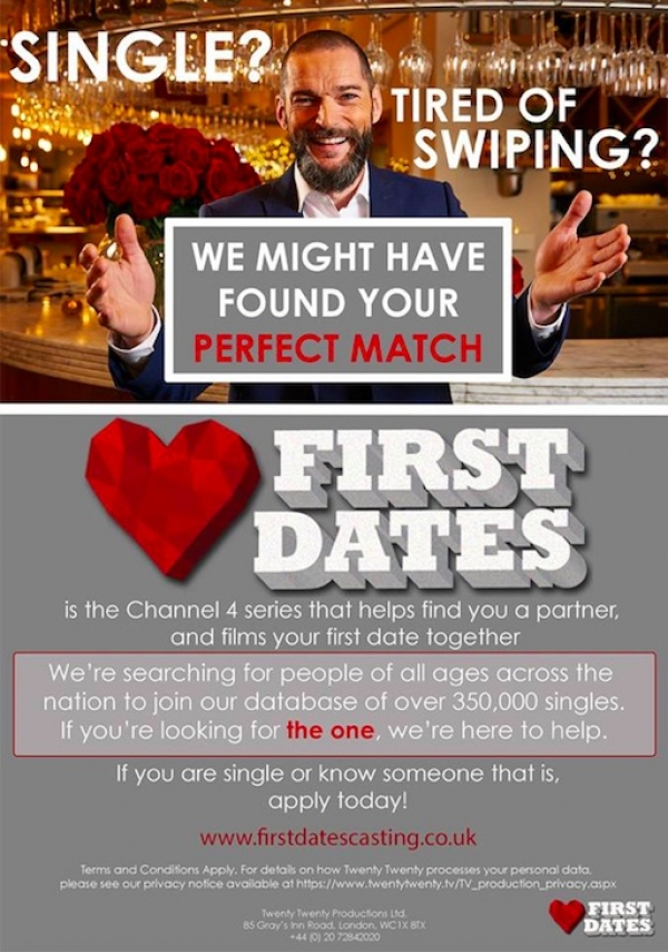 First Dates Auditions at The Galleries in Bristol on Saturday 14th July
