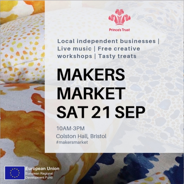 The Prince's Trust Makers Market 5th Birthday 21st September at Colston Hall