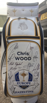 Chris Wood to auction fully signed Ryder Cup golf bag in aid of Children's Hospice South West