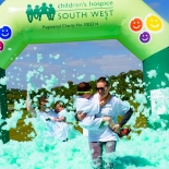 Bubble Rush in Bristol for Children's Hospice South West