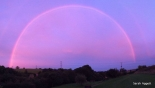 Rare 'pink rainbow' appears over Bristol
