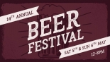 Inn on the Green's 14th Annual Beer Festival on Saturday 5th & Sunday 6th May 2018