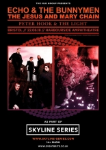 Win 2 tickets to see Echo & The Bunnymen and Jesus & Mary Chain at Lloyds Amphitheatre in Bristol Fri 22nd June