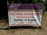 The Three Musketeers at Winterbourne Medieval Farm on Sunday 12th August 2018