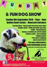 Holly Hedge Annual Fun Day and Dog Show Sep 9th 2018