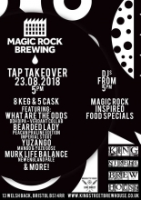 Magic Rock Tap Takeover at King Street Brew House on Thursday 23rd August 2018