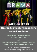 New Drama Classes for Secondary School in BS7 every Wednesday