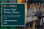 Chivas Burns Night Dinner at The Milk Thistle on Friday 25th January 2019