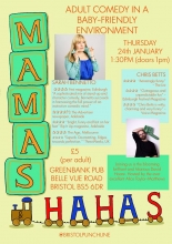 Mamas and Haha's at The Greenbank on Thursday 24th January 2019