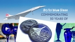 Bristol Blue Glass release commemorative Penny to celebrate 50 years of the Concorde airliner