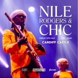 Disco legends Chic and Nile Rodgers to play Cardiff Castle 12th July 2019